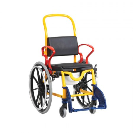Ausburg-Self Propelled Child Wheelchair Commode